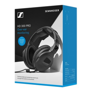 Sennheiser HD 300 PROtect Professional Monitoring Headphones, Box