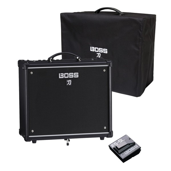Boss Katana 50 Combo Guitar Amplifier w/ Cover & Footswitch - Main