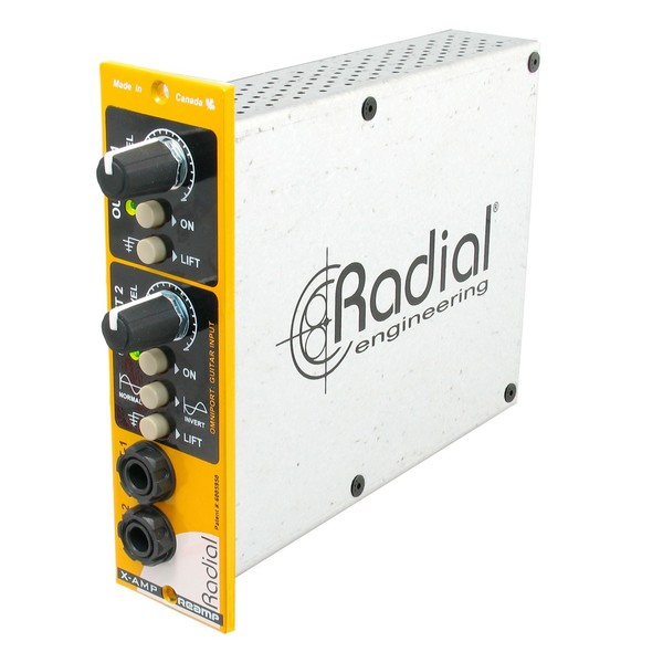 Radial Workhorse X-Amp-500 500 Series Reamper, Angled Left