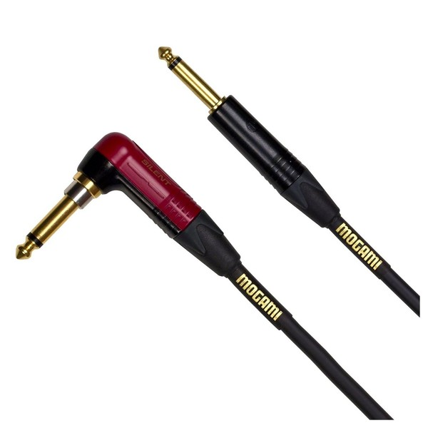 MOGAMI Ultimate Instrument Cable (One straight, one angled jack), 6m - Main