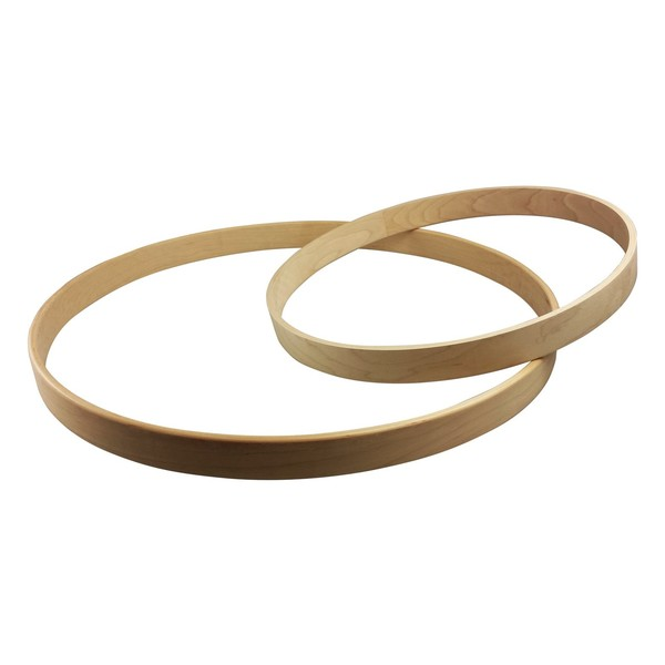 "Shaw 20"" Round Front Maple Bass Drum Hoop, Natural - Main Image"