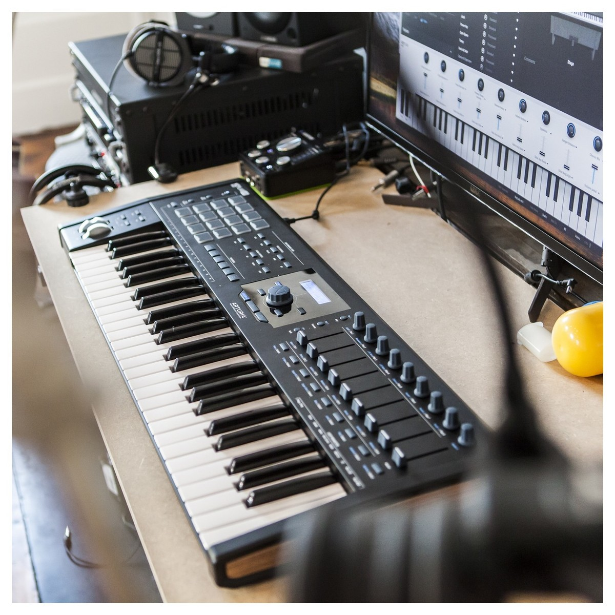 arturia keylab 49 mkii black at gear4music. Black Bedroom Furniture Sets. Home Design Ideas
