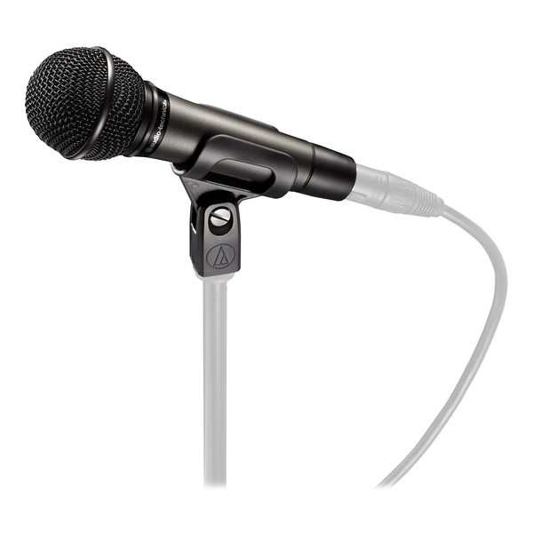 Audio Technica ATM510 Dynamic Vocal Microphone, Mounted on Stand