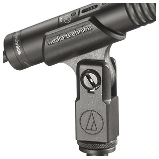Audio Technica PRO24 Stereo Condenser Microphone, Mounted Close-Up