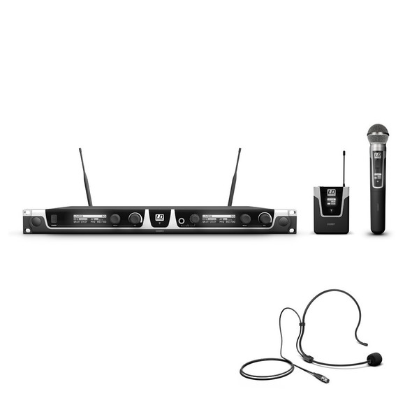 LD Systems HBH2 Double Headset And Handheld Mic Wireless System