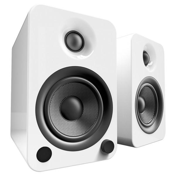 Kanto YU4 Powered Bookshelf Speakers, Gloss White - Main