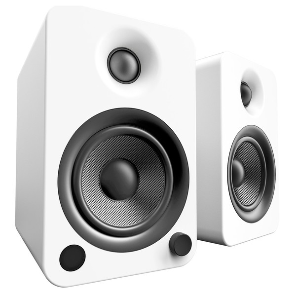 Kanto YU4 Powered Bookshelf Speakers, Matte White - Main
