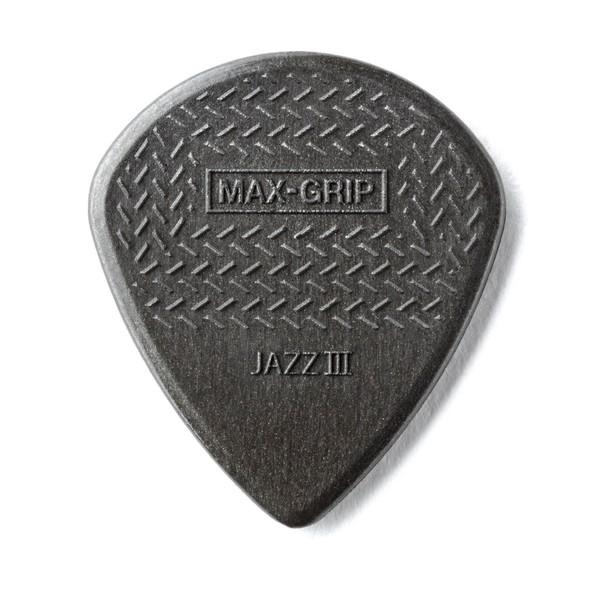 Dunlop Nylon Max-Grip Jazz III Carbon Fiber 1.38mm, 6 Pack Main Image