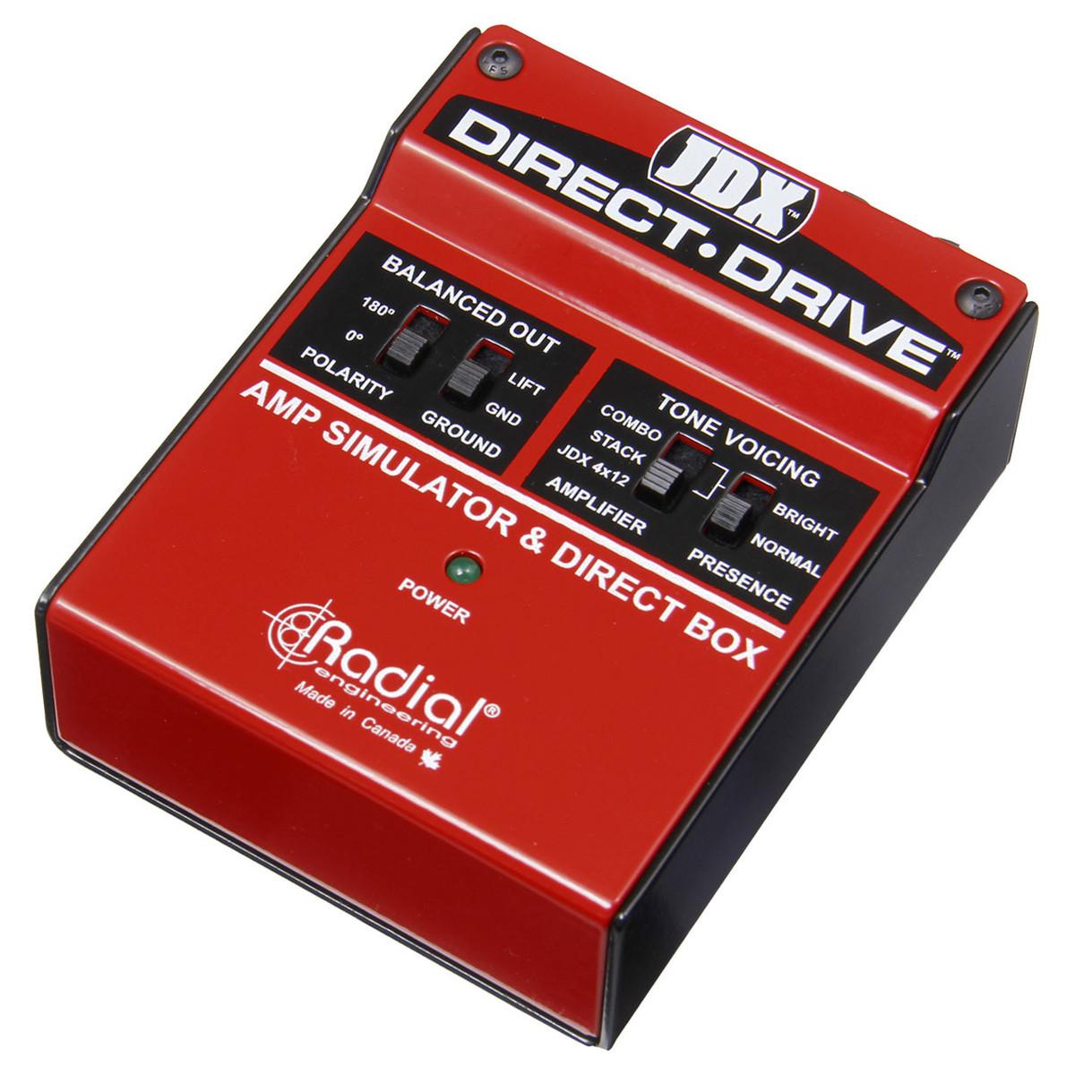Radial JDX Direct Drive Amp Emulator And DI Box - B-Stock