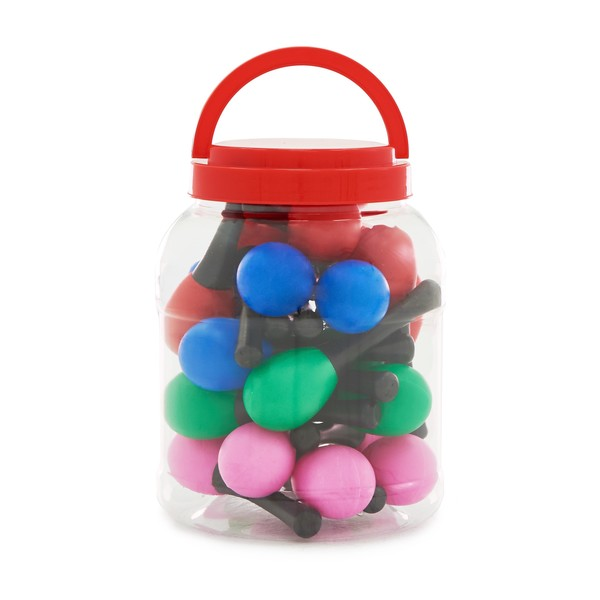 Mini Maraca Bucket by Gear4music, 24 Pack