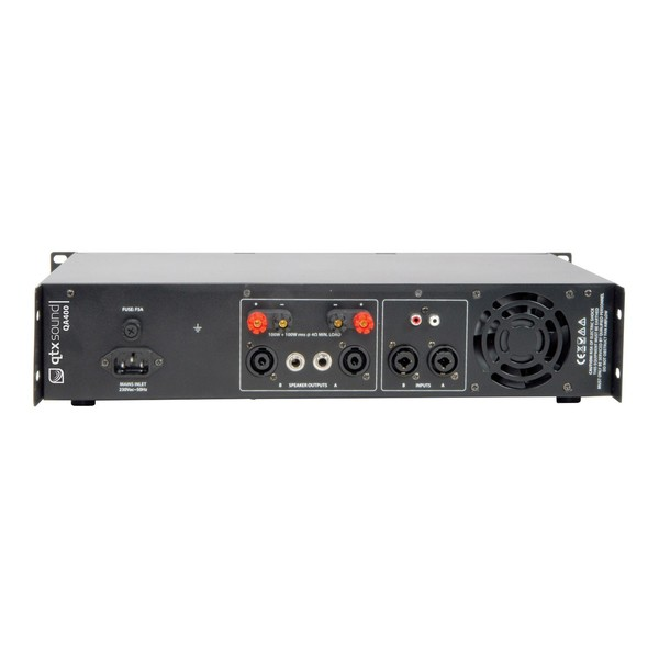QTX QA400 400W Power Amp, Rear
