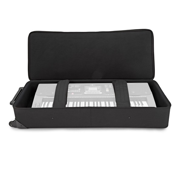 Gator GK-61 Rigid EPS Foam 61 Key Keyboard Case open