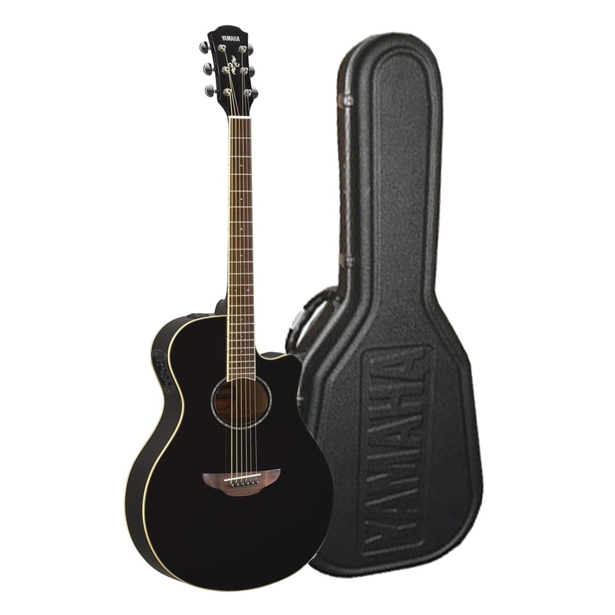 disc yamaha apx600 electro acoustic black w free apxc hard case at gear4music. Black Bedroom Furniture Sets. Home Design Ideas