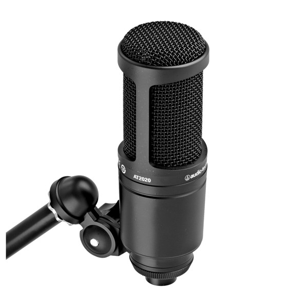 Audio Technica AT2020 Cardioid Condenser Microphone on clamp