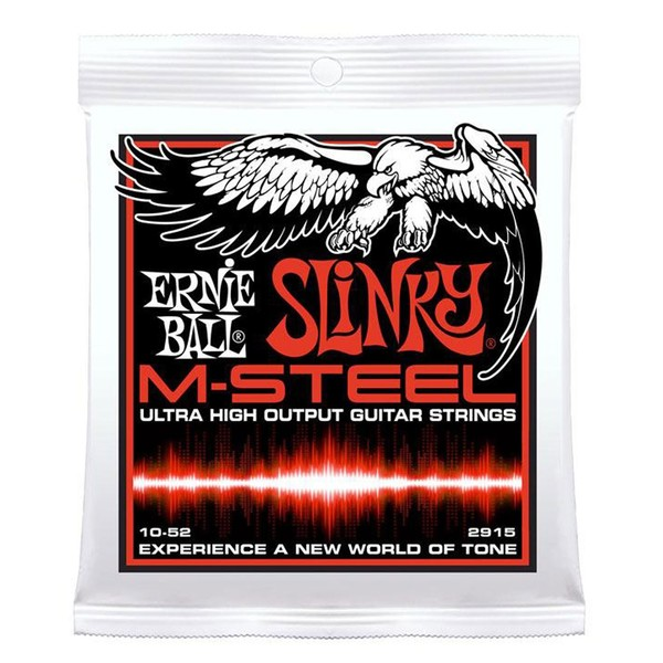 Ernie Ball Skinny Top Heavy Bottom Slinky M-Steel Set, 10-52
