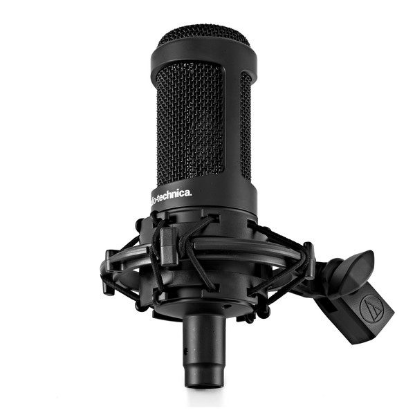 Audio Technica AT2035 Condenser Mic mounted
