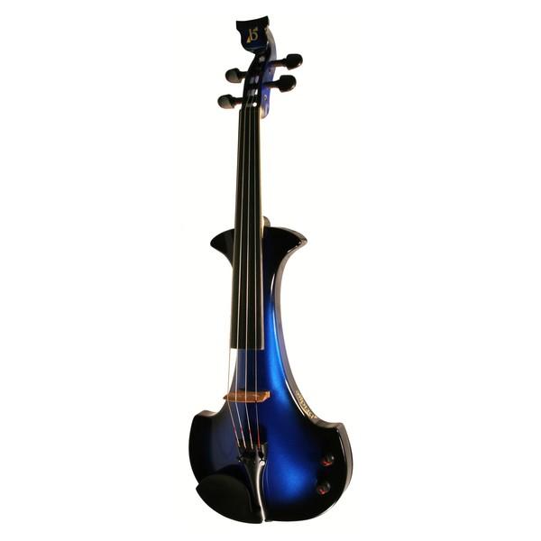 Bridge Aquila Octave Electric Violin, Black and Blue