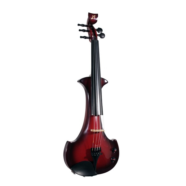 Bridge Lyra Octave Electric Violin, Black and Red
