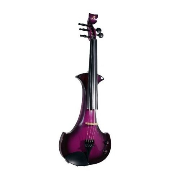 Bridge Lyra Octave Electric Violin, Black and Purple