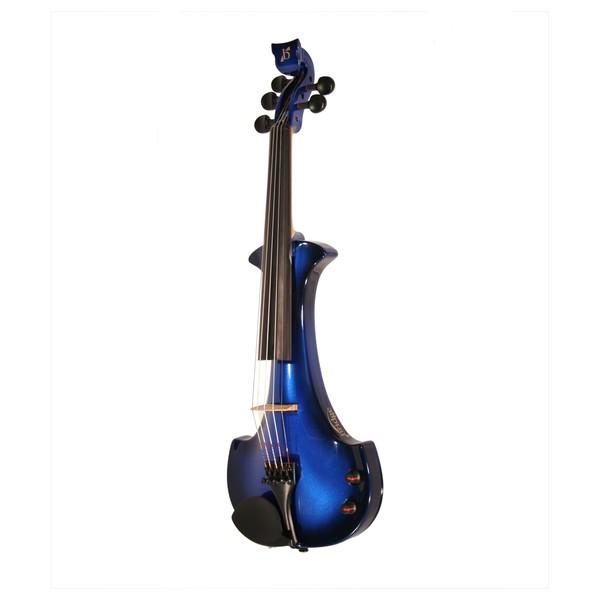 Bridge Lyra Octave Electric Violin, Black and Blue
