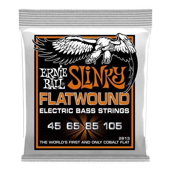 Ernie Ball Hybrid Slinky Flatwound Bass Set, 45-105 - Front