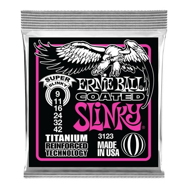 Ernie Ball Super Slinky Coated Titanium Set, 9-42