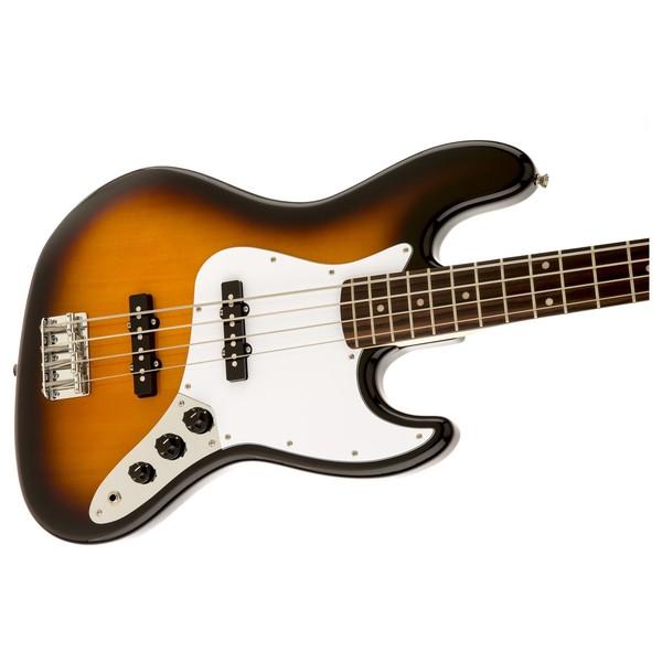 Squier Affinity Jazz Bass, Brown Sunburst Close Right