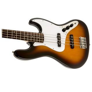 Squier Affinity Jazz Bass, Brown Sunburst Close Left