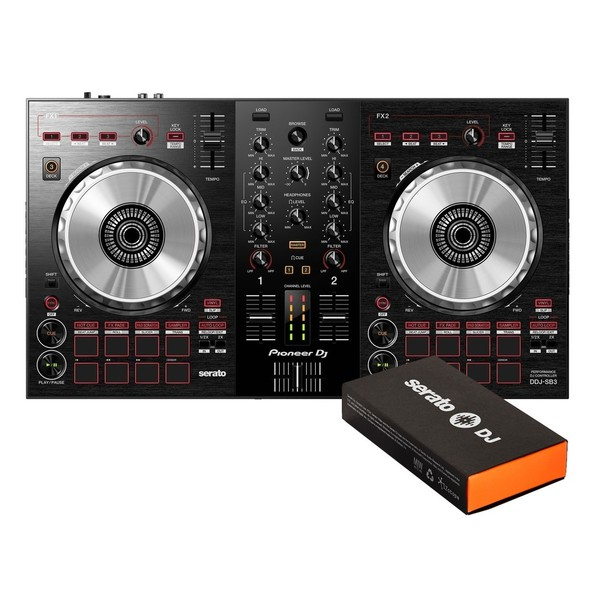 Pioneer DJ DDJ-SB3 and Serato DJ Pro Bundle - Bundle