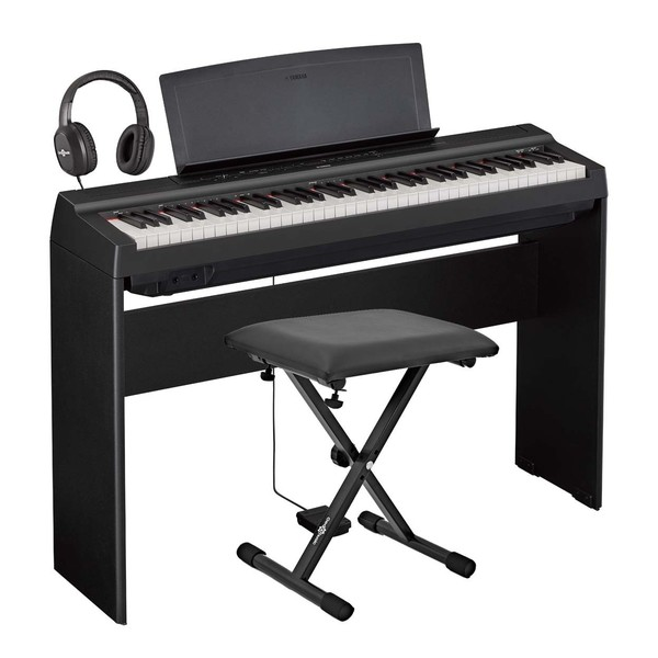 Yamaha P121 Digital Piano Package, Black
