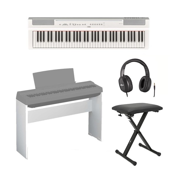 Yamaha P121 Digital Piano Package, White