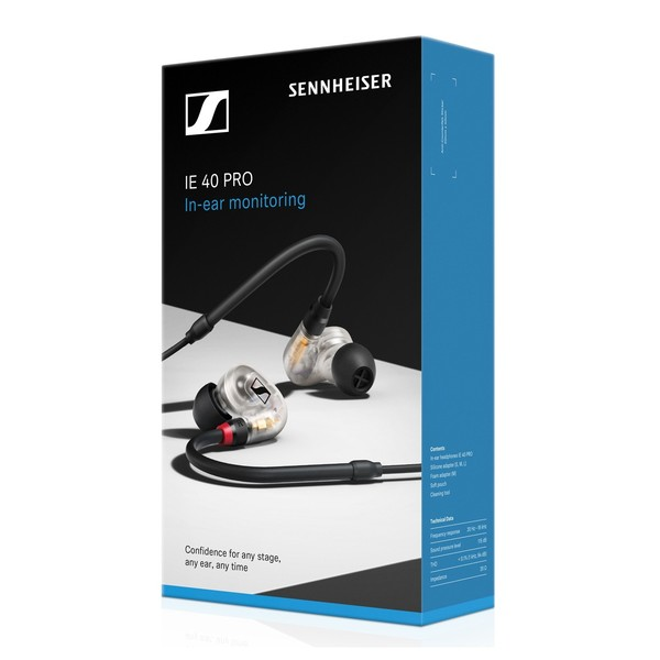 Sennheiser IE 40 Pro In-Ear Monitors, Box