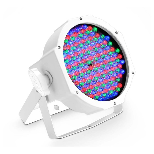 Cameo 144 x 10mm RGB Flat LED Par Can, White