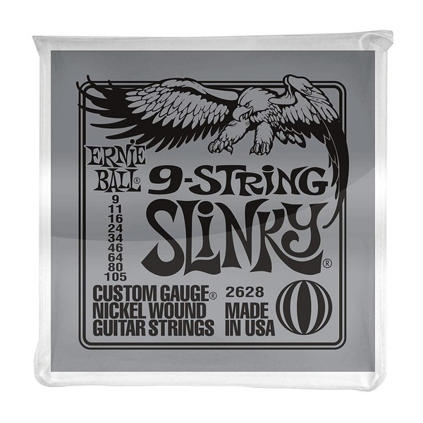 Ernie Ball Slinky Nickel Wound 9 String Set, 9-105