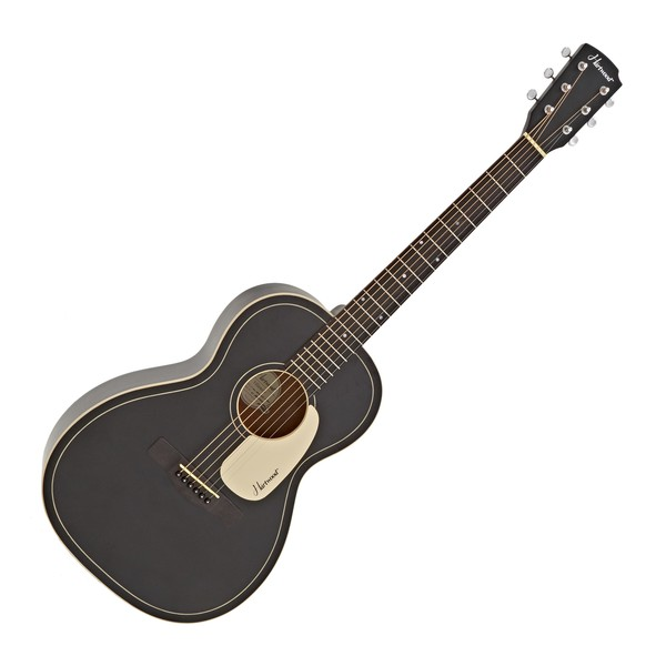 Hartwood Villanelle Parlour Acoustic Guitar, Satin Black