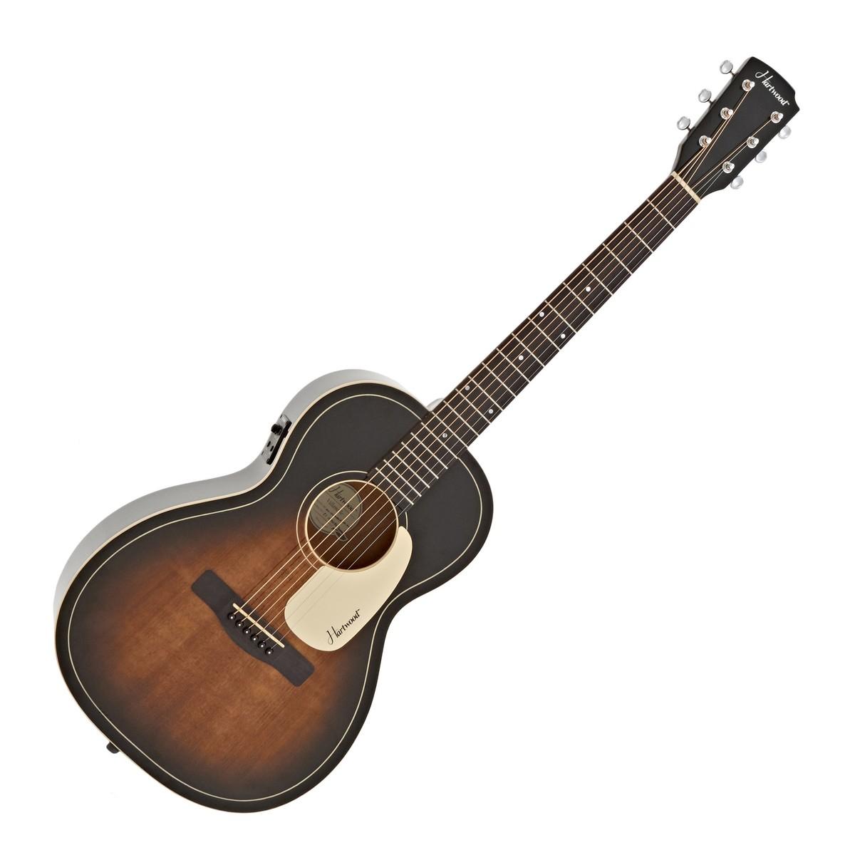 Hartwood Villanelle Parlour Electro Acoustic Guitar, Vintage Sunburst