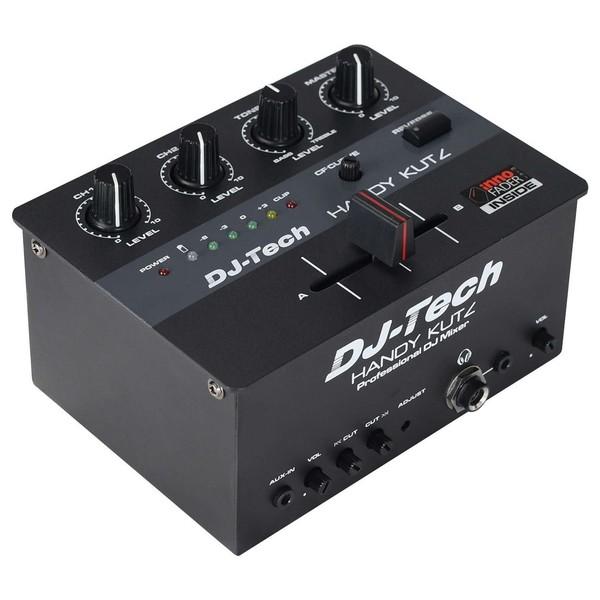DJ Tech DJ Handy Kutz Portable Scratch Mixer - Angled