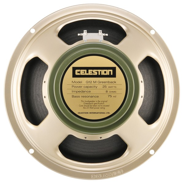 Celestion G12M Greenback 8 Ohm Speaker Front View