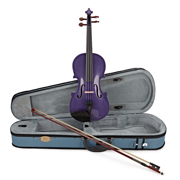 Stentor Harlequin Violin Outfit, Deep Purple, 3/4 main