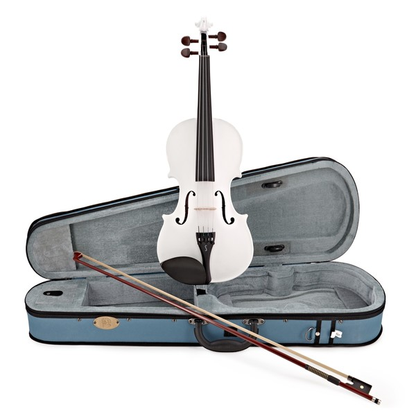 Stentor Harlequin Violin Outfit, White, 4/4 main