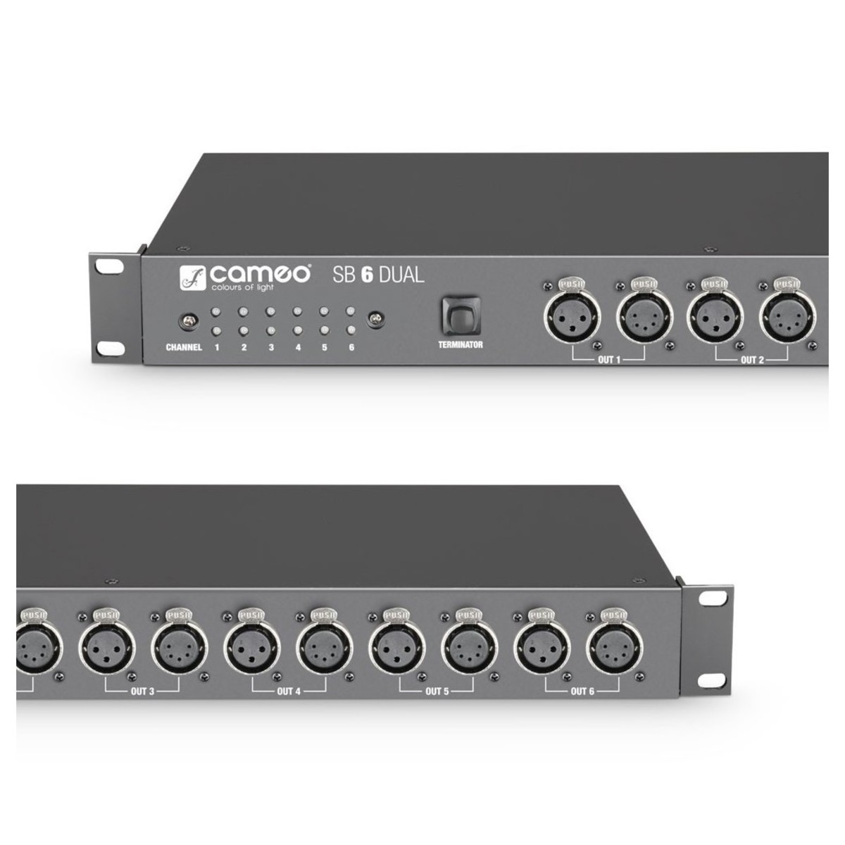 Cameo Sb6 Dual 6 Channel Dmx Splitter And Booster At Gear4musiccom 3 Audio Connectors