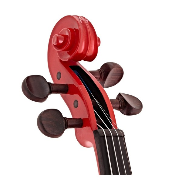 Stentor Harlequin Violin Outfit, Cherry Red, 1/2 head