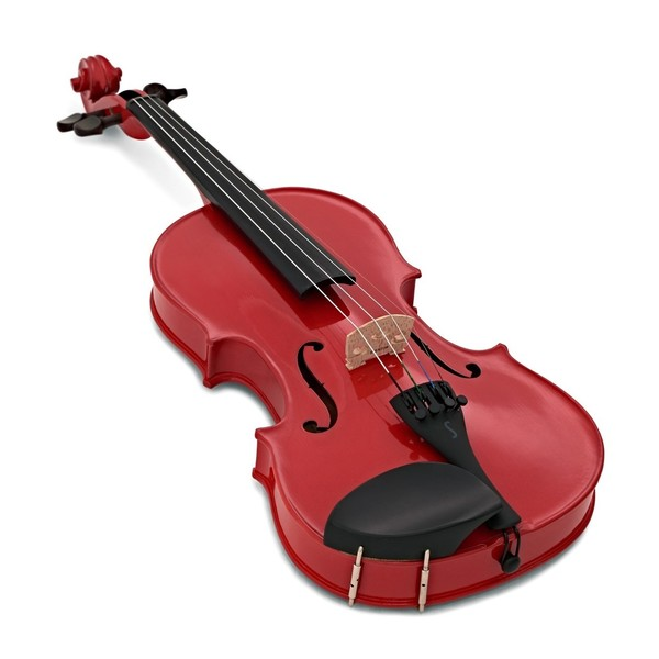 Stentor Harlequin Violin Outfit, Cherry Red, 1/2 angle