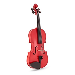 Stentor Harlequin Violin Outfit, Cherry Red, 1/2 front