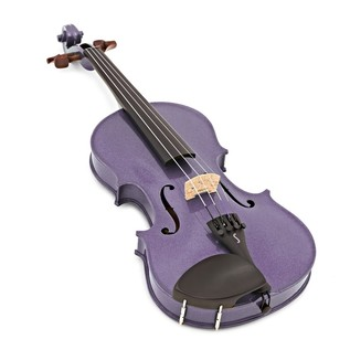 Stentor Harlequin Violin Outfit, Light Purple, 1/2 angle