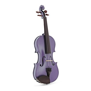 Stentor Harlequin Violin Outfit, Light Purple, 1/2 front