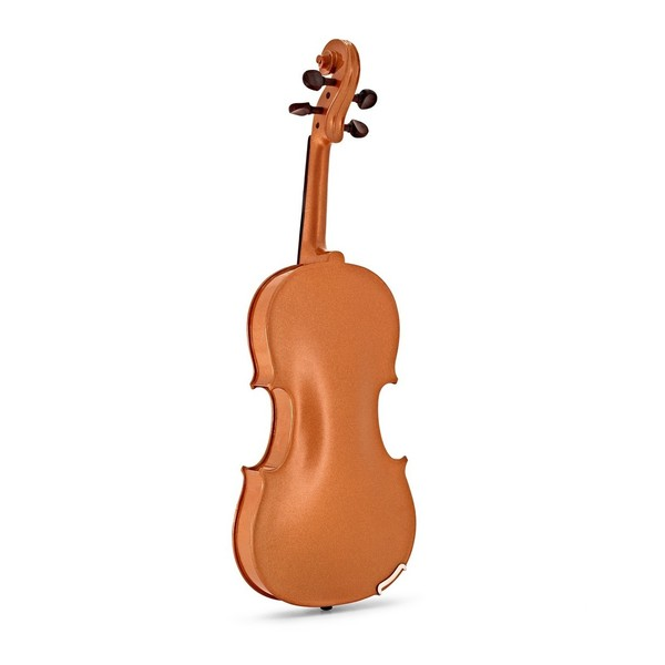 Stentor Harlequin Violin Outfit, Orange, 3/4 back