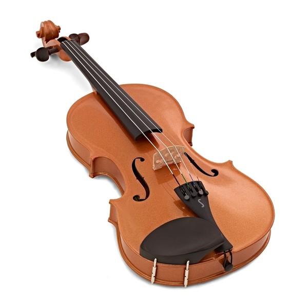 Stentor Harlequin Violin Outfit, Orange, 3/4 angle