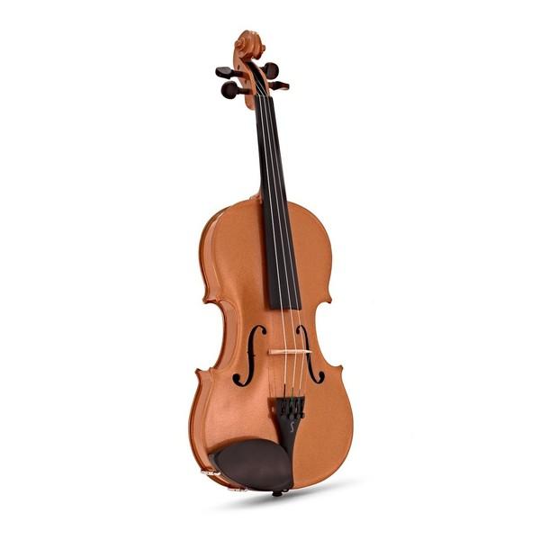 Stentor Harlequin Violin Outfit, Orange, 3/4 front