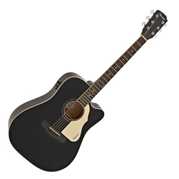 Hartwood Villanelle Cutaway Electro Acoustic Guitar, Satin Black